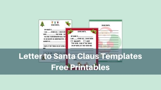 letter to santa claus templates