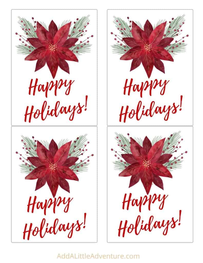 Free Printable Holiday Wine Bottle Labels