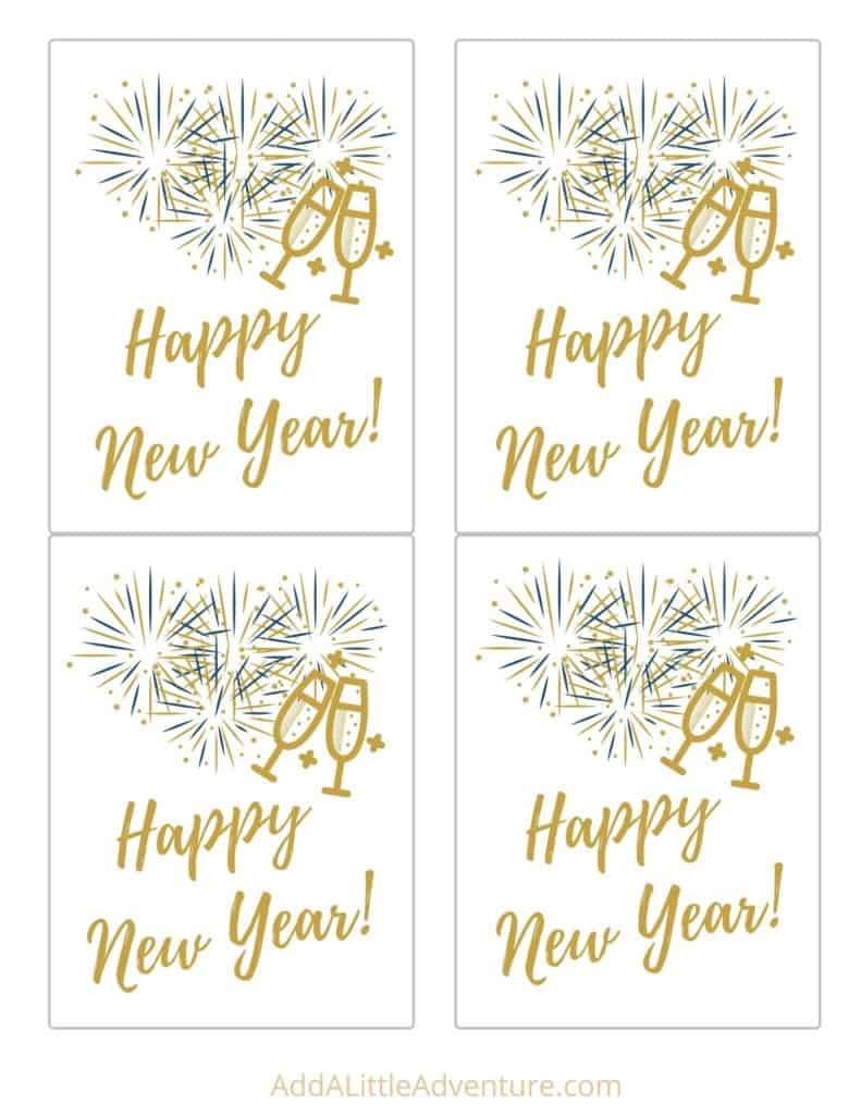 Free Printable New Years Wine Bottle Labels