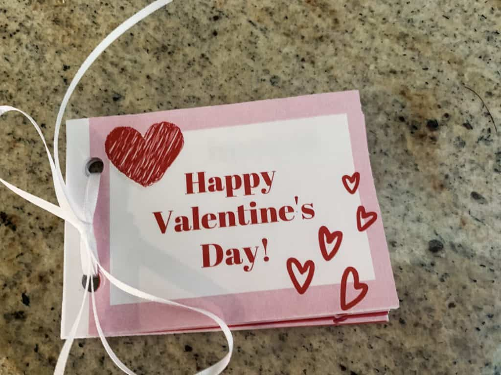 Valentine Coupons Book