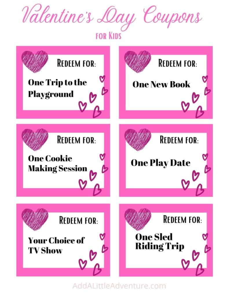 Valentine's Day Coupons for Kids - Page 2