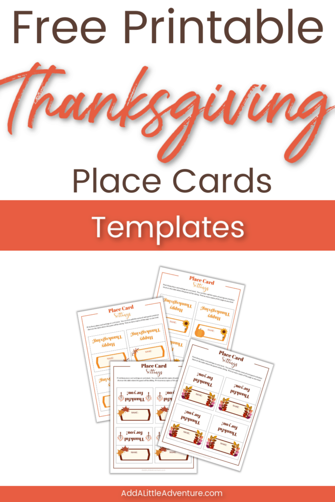 Free Printable Thanksgiving Place Cards Templates