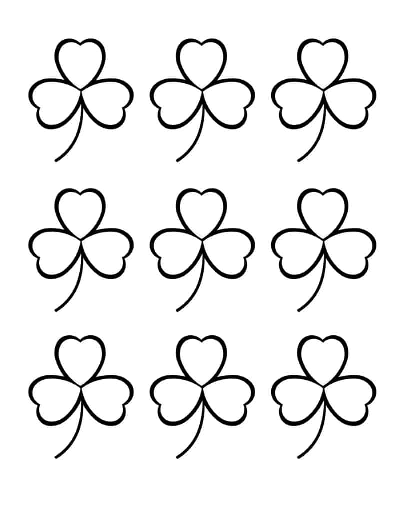 Free Printable Small Shamrock Outlines