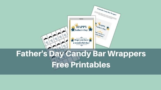 Father's Day Candy Bar Wrappers