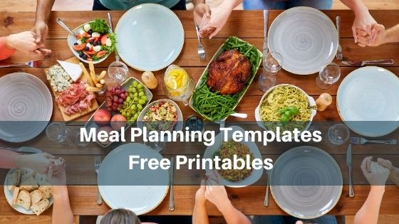 meal planning template-free printables