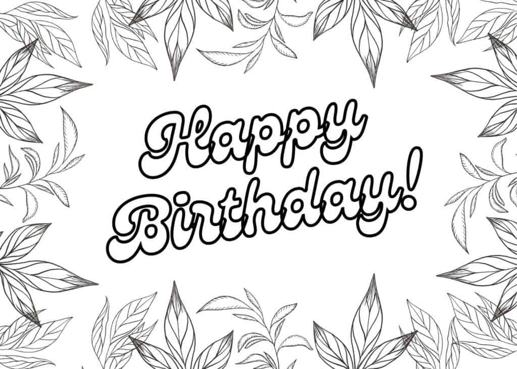 Happy Birthday Coloring Cards - Add A Little Adventure