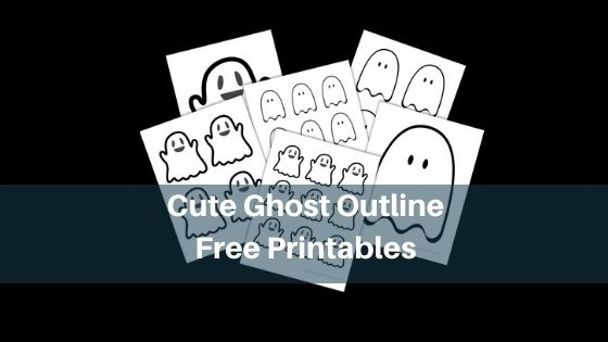 Cute Ghost Outline - Free Printables