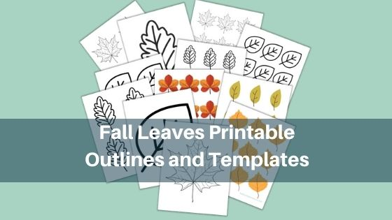 Fall Leaves Printable Outlines and Templates