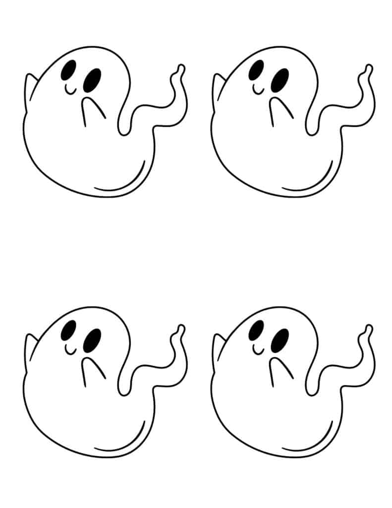 Medium Halloween ghost outlines - page 1