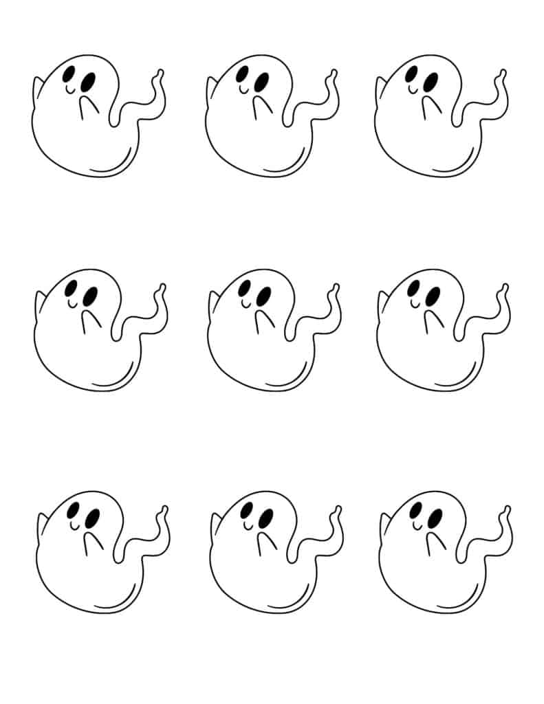 Small Halloween Ghost Outlines - Page 1