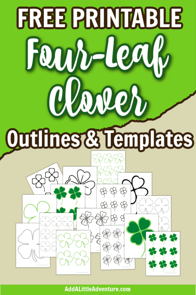 Free Printable Four-Leaf Clover Outlines and Templates